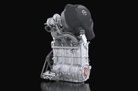 ルマンレーサー「日産ZEOD RC」に搭載される「DIG-T R」エンジン。