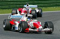 F1サンマリノGP、シューマッハー4連勝、バトン2位!