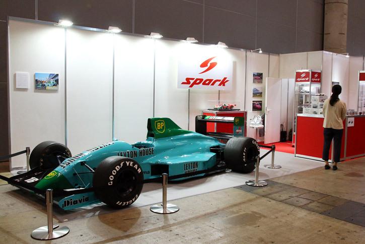 SPARK JAPANのブースに展示された「March 881 Leyton House」。