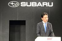 プレスカンファレンスではSTIの平川良夫社長が登壇した。