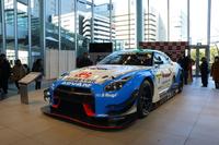 2016年、スーパー耐久のST-Xクラスに参戦していたスリーボンド日産自動車大学校GT-R(24号車)。近藤真彦監督率いるKONDO Racing のマシンで、発表会当日のみ特別に展示された。