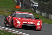 No.23 MOTUL AUTECH GT-R(本山 哲/ミハエル・クルム)。今回は予選4番手からスタート、3位表彰台を手にした。