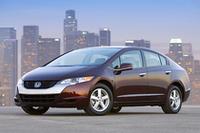 2007年ロサンゼルスショーで発表された、市販型の燃料電池車「FCXクラリティ」。