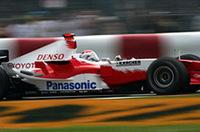 ブレーキにキツイのがここカナダの特徴。トヨタのヤルノ・トゥルーリは、残り8周でブレーキトラブルが発生しリタイア。チームメイトのラルフ・シューマッハー(写真)が6位でポイントを獲得できた。(写真=トヨタ自動車)