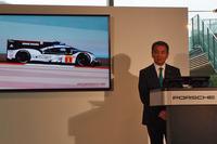 ポルシェ ジャパンの七五三木敏幸社長。ポルシェの劇的な勝利となった2016年のルマンを「耐久レースの真骨頂」と振り返った。