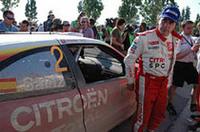 WRC最多勝ドライバーの大ベテラン、カルロス・サインは安全策をとって3位でフィニッシュ。