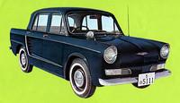 1961年にデビューした日野初のオリジナル乗用車である「コンテッサ」。ルノー4CVを日本流にアレンジして発展させたモデルといえる。ルノー用(748cc)より大きい893ccエンジンをリアに積んでいた。