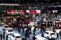 ジュネーブショー2014の会場から。フォルクスワーゲン グループ傘下のブランドがスペースの多くを占める第1ホール。