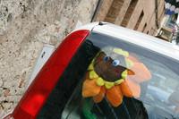 昨年あたりからイタリア人女性ドライバーに流行している「ひまわり」。