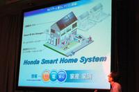 こちらはイラストによる「ホンダ・スマート・ホーム・システム」のイメージ。来春からは、その実証実験がスタートする予定だ。