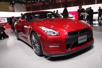 2014年型の「GT-R」も、場内に展示された。