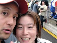 チームメイトの飯田裕子さんとツーショット。