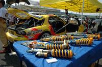 数多くのパーツメーカーが参戦しているD1グランプリ。