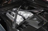 ミドシップ搭載される自然吸気の5.2リッターV10直噴エンジン。
