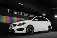 メルセデス・ベンツのブースでは、昨秋のパリモーターショーでデビューした新型「Bクラス」が発表された。