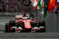 フェラーリのセバスチャン・ベッテルは3番グリッドから3位フィニッシュ。レース半ばであえて速めのソフトタイヤを履き賭けに出たが、うまくいかなかった。今季のランキングは3位に決まった。(Photo=Ferrari)
