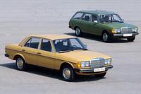 「メルセデス・ベンツW123」 1976年から1985年まで販売されたメルセデス・ベンツのエントリーモデル。「W114/115」を前身とし、後継は「W124」。ただし、1982年に190Eが登場して、ミディアムクラスの位置づけとなる。