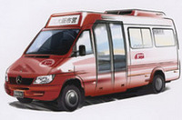 """ナニワを走れ!メルセデスベンツの""""赤バス""""の画像"""