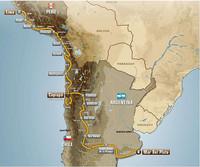 ダカールラリー2012の大会ルート図