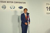 式典には追浜工場のある神奈川県横須賀市の上地克明市長も登壇。「市民の一人として、追浜工場で『リーフ』が生産されることをうれしく思います。新型が世界を席巻することを夢見ています」と話した。