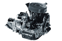「EA52」型水平対向エンジン。