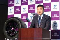 ネクセンタイヤコーポレーションのカン ホ チャン社長。日本市場については、リプレイス市場はもちろん、純正装着用タイヤとしての自動車メーカーへの納入についても意欲を見せた。