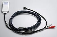 お手持ちのiPodの音を聞きたければこの接続ケーブル(1万500円)を購入すればいい。ただし、外部入力対応のオーディオが必要だが。