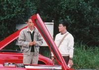 『SUPER CG』編集記者時代の筆者と小林彰太郎氏。取材協力者の方が撮影してくださったもの。