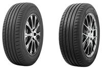 トーヨータイヤの低燃費タイヤである「PROXES CF2 SUV」(左)と「PROXES CF2」(右)。