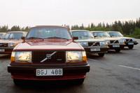 こちらは「ボルボ240系」の各モデル。写真手前が「240ターボ」(1980年)だ。