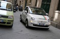 バルツァナ教習所のチンクエチェント教習車。
