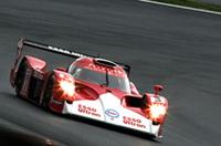 1999年のルマンで2位に入賞した「トヨタTS020」は、その際のドライバーだった片山右京氏がドライブした。ヒストリックマシンのデモランが、これとGT仕様のスープラだけだったのは、少々寂しかった。