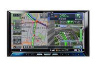 「ARスカウターモード」に話題は集中するが、2Dの「ノーマルビュー」や俯瞰(ふかん)の「スカイシティマップ」、ドライバー視点の「ドライバーズビュー」も選ぶことができる。写真はノーマルビュー。