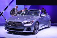 インフィニティの主役は「G37セダン」(日本名:スカイライン)の後継モデルである新型「Q50」。