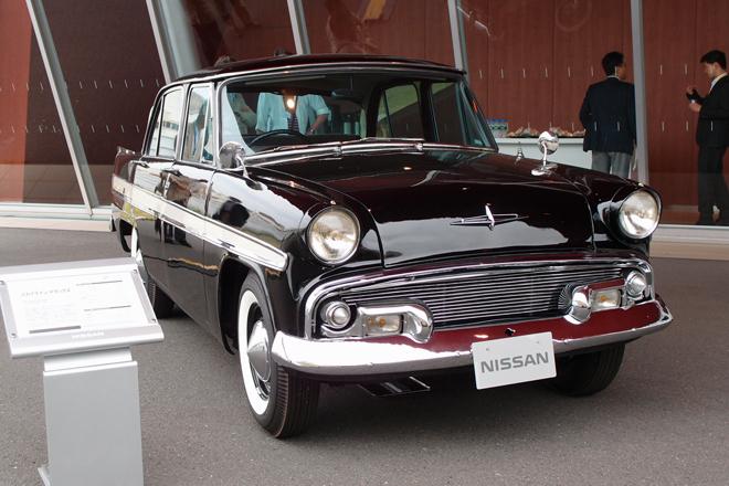 スカイライン デラックス(1957年 ALSID-1型):全長×全幅×全高=4280×1675×1535mm/ホイールベース=2535mm/車重=1310kg/エンジン=1.5リッター直4 OHV(60ps/4400rpm、10.8kgm/3200rpm)