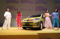 発表会では、「up!」にカラフルなボディーカラーをモチーフにしたファッションショーも催された。