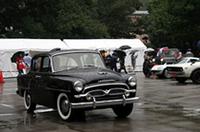 出展車両のうち、四輪ではいちばん古いのがこの「1956年式トヨペット・クラウン・デラックス(RSD型)」。1.5リッターエンジンを搭載した、当時の国産最高級車だが、全高を除くサイズは現行カローラよりコンパクト。