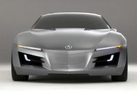 【写真】NSXの後継車は、こんな姿で登場する!? 2007年1月のデトロイトショーで公開された、デザインコンセプト「アキュラ・アドバンスド・スポーツカーコンセプト」。  ショーカーはV10エンジンを搭載し、全長×全幅×全高=約4.61×1.99×1.22m、ホイールベースは2.76mと発表された。タイヤサイズは、フロント255/40R19、リア295/35R20だ。