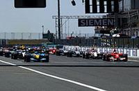 "F1第10戦フランスGP、シューマッハー""4ストップ""で今季9勝目"