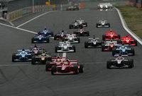 PPのトレルイエに、松田、オリベイラら続いて1コーナーへ。