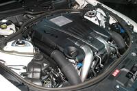 「CL550 ブルーエフィシェンシー」が搭載する、4.7リッターV8直噴ツインターボエンジン。