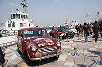 日産の戦後モータースポーツの原点となる、1958年の豪州ラリーでクラス優勝した「ダットサン富士号」ほかを展示した「スピリッツ・エリア2」。
