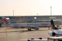 チューリッヒ空港。「ラウダ航空」を売却したあとのニキ・ラウダが再びオーストリアを拠点に展開している「ニキ航空」。