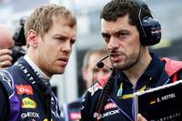 5連覇を目指すチャンピオン、ベッテルの表情は険しかった。予選では2012年ベルギーGP以来となるQ2どまりを経験。エンジン制御のソフトウエアが不調で、この問題はレース開始前にも認められていた。ペースが伸びず5周でリタイア。(Photo=Red Bull Racing)