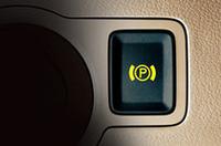電動パーキングブレーキのボタン(写真は欧州仕様のもの)