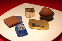 カファレル(伊トリノ)のジャンドゥーヤをはじめとする6種類のチョコレート。いずれも、期間中はフィアットカフェで販売される。