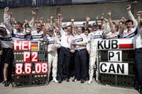 BMWザウバーは、ロバート・クビサ優勝、ニック・ハイドフェルド2位の1-2フィニッシュで、2006年のチーム結成以来待ちに待った初優勝を手に入れた。(写真=BMW)