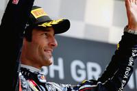 第6戦モナコGPに次ぐ今シーズン2勝目をあげたレッドブルのマーク・ウェバー。シルバーストーンでは過去3年すべてで表彰台の全ステップにのぼっており、ここでの優勝は2010年以来となる。(Photo=Red Bull Racing)