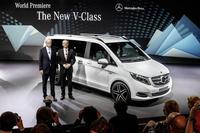 フルモデルチェンジを受けた「Vクラス」。本国では5月発売予定。