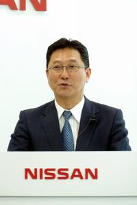 東風汽車有限公司の関 潤総裁。日産の専務執行役員を兼務する。(写真=webCG)
